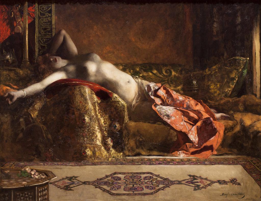 Benjamin Constant, Odalisque allongée, dit aussi rêve d'Orient