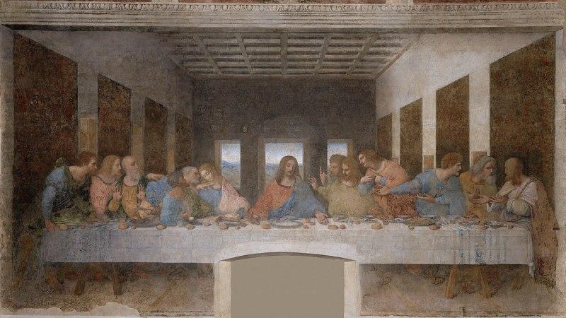 La cène, Léonard de Vinci, Italie