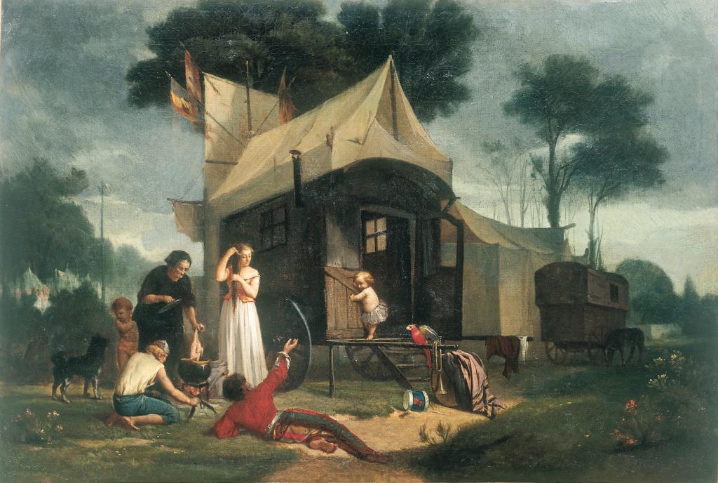 Les saltimbanques, Alphonse Cornet- Huile sur toile, avant 1877