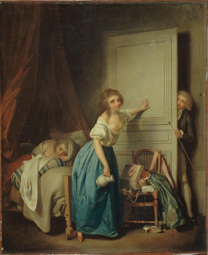 """Louis Léopold Boilly, """"L'Indiscret"""", entre 1795 et 1800"""