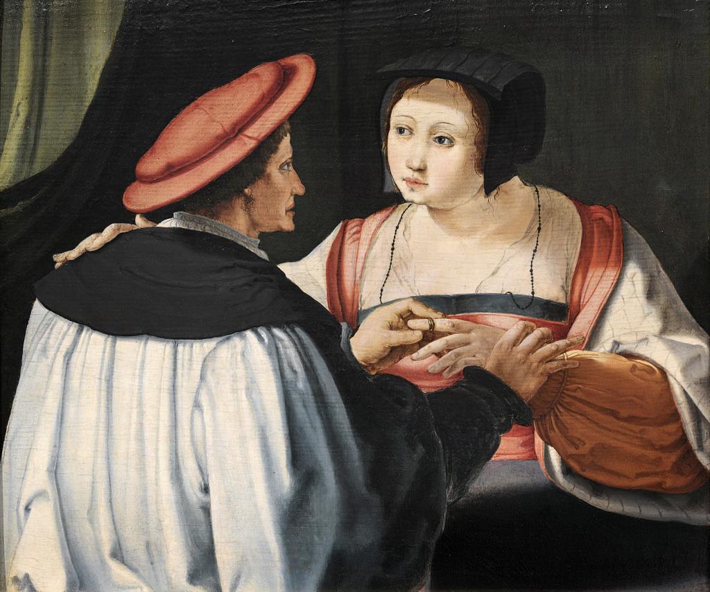 Lucas de Leyde, Les fiancés, vers 1525