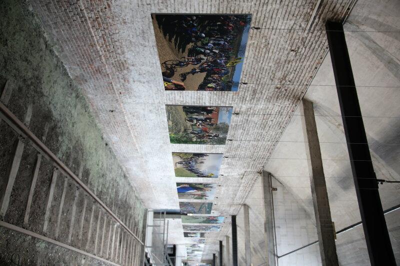Vue de l'exposition SportFoto à Lille - Gare Saint Sauveur