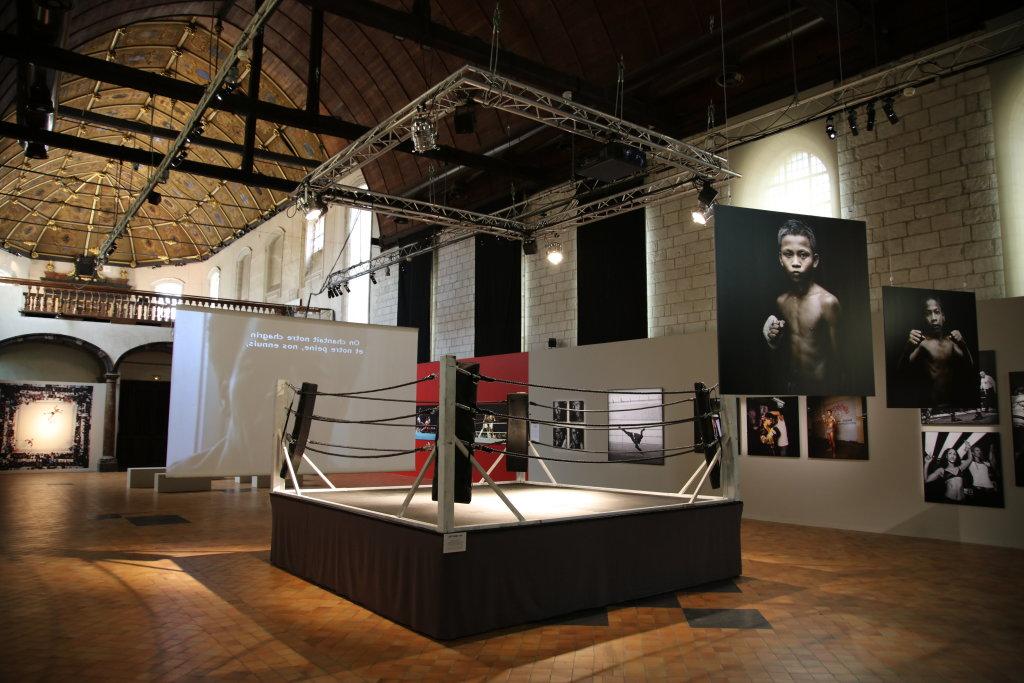 Vue de l'exposition SportFoto à Lille - Musée de l'Hospice comtesse