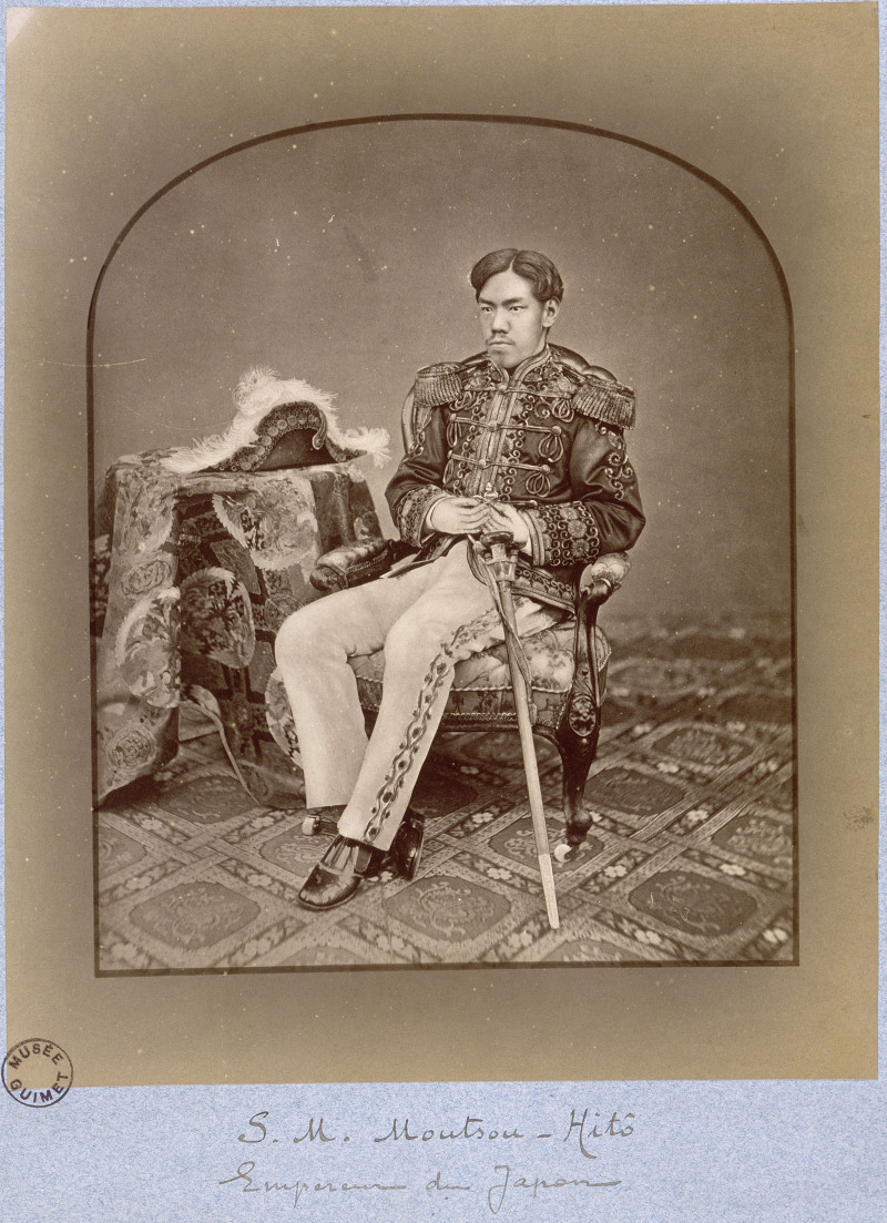 Kuichi Uchida (1844-1875). Paris, musée Guimet - musée national des Arts asiatiques. Dubois n°105.