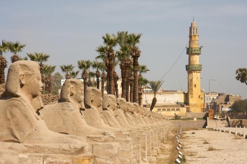 L'avenue des Sphinxs, route Al-Kabbash, (c) Tom Blackie
