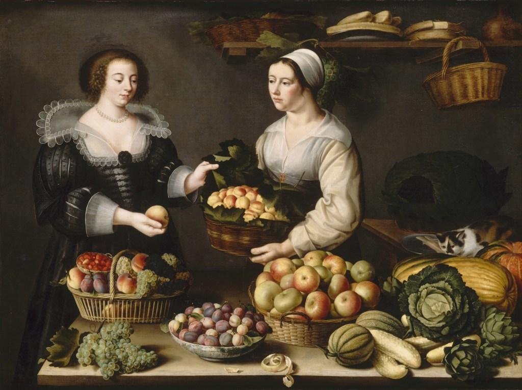 Louise Moïllon, La marchande de fruits et de légumes, 1630