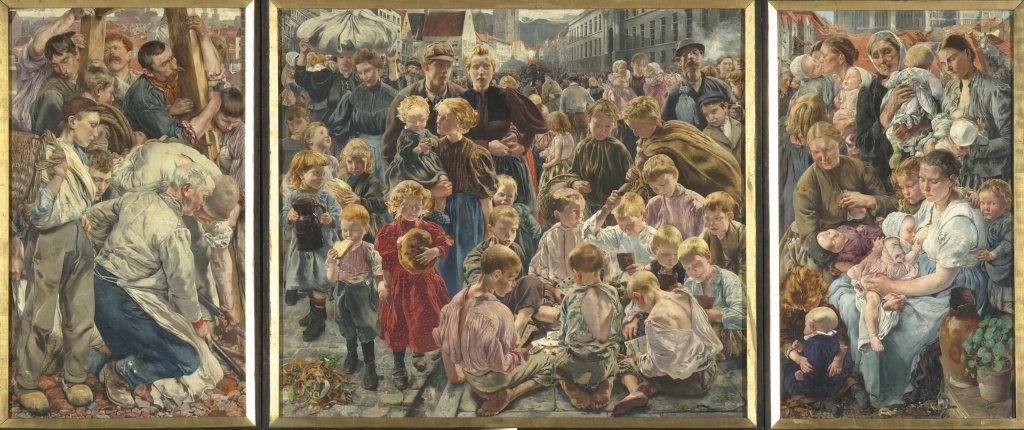 Léon Frederic (1856 – 1940), Les Ages de l'ouvrier, 1895-1897