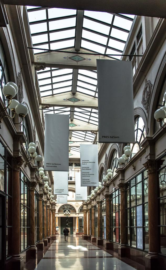 Vue de la galerie Colbert, Institut national de l'Histoire de l'Art, INHA