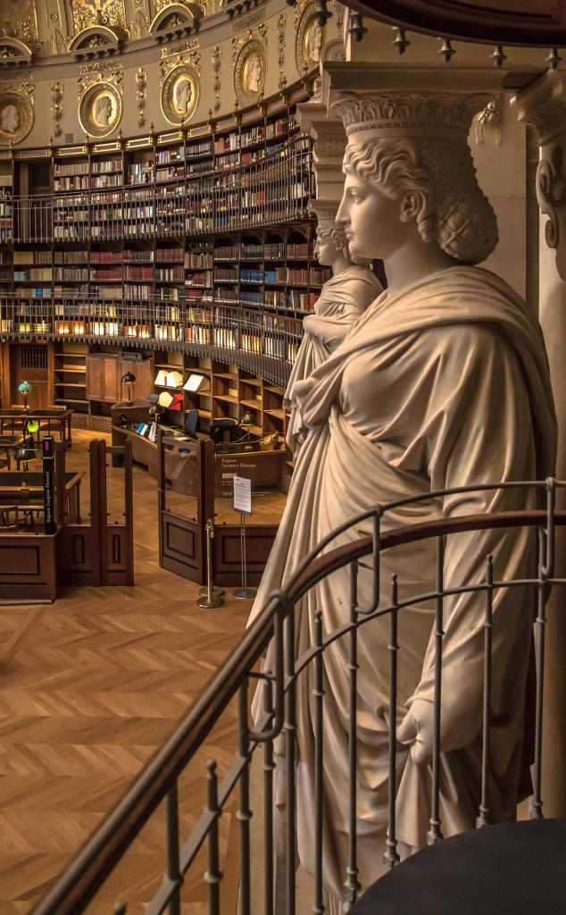 Vue de la salle Labrouste, bibliothèque de l'Institut national de l'Histoire de l'Art, INHA