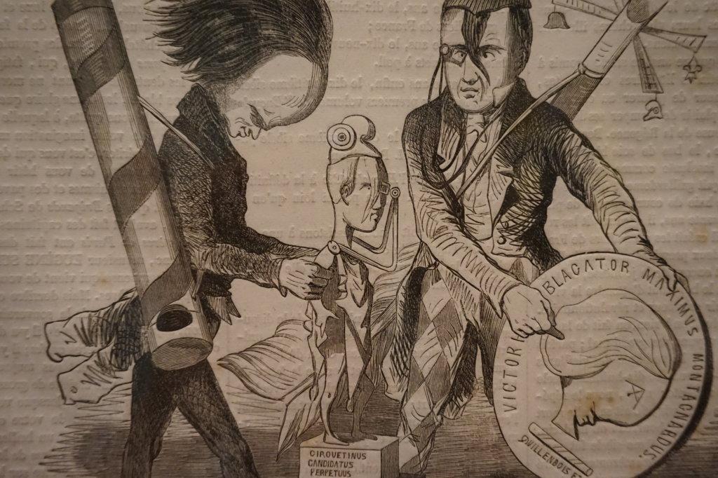Vue de l'exposition Caricatures - Maison Victor Hugo (45)