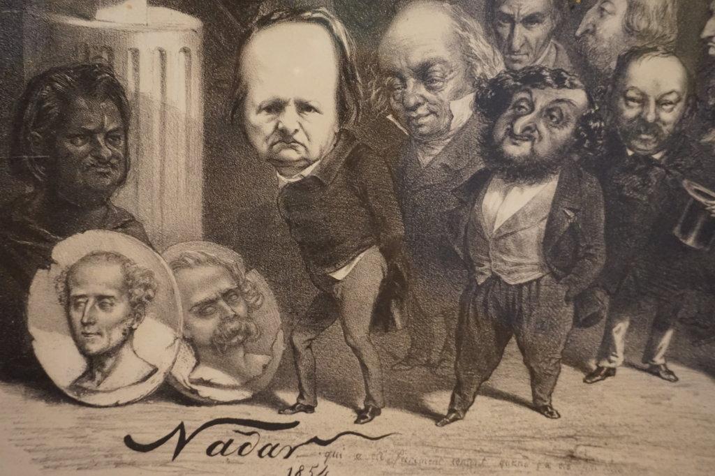 Vue de l'exposition Caricatures - Maison Victor Hugo (54)