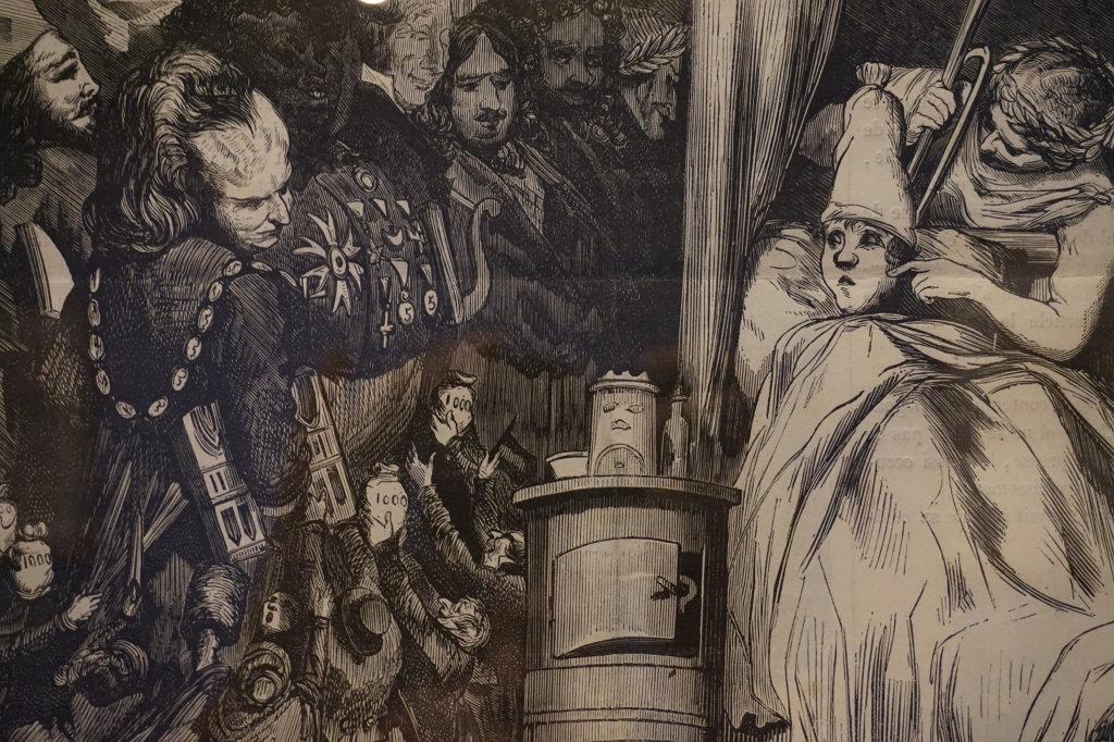 Vue de l'exposition Caricatures - Maison Victor Hugo (57)