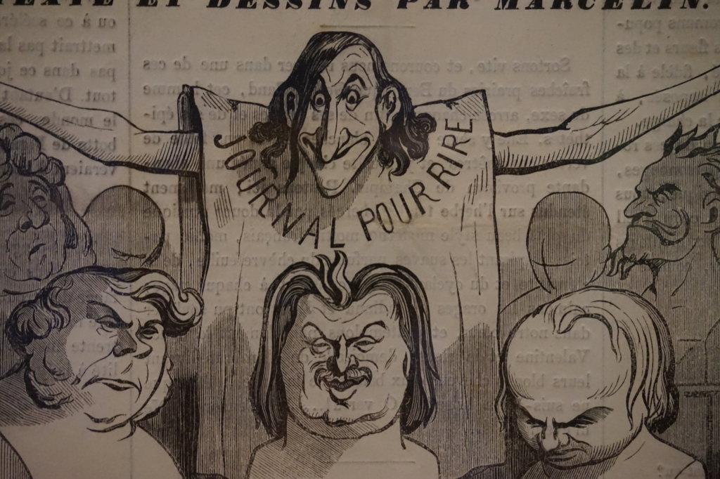 Vue de l'exposition Caricatures - Maison Victor Hugo (59)
