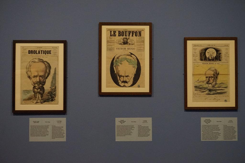 Vue de l'exposition Caricatures - Maison Victor Hugo (61)