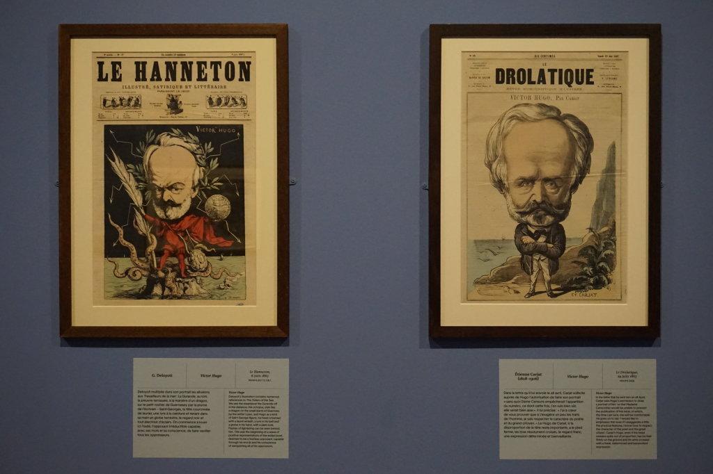 Vue de l'exposition Caricatures - Maison Victor Hugo (65)