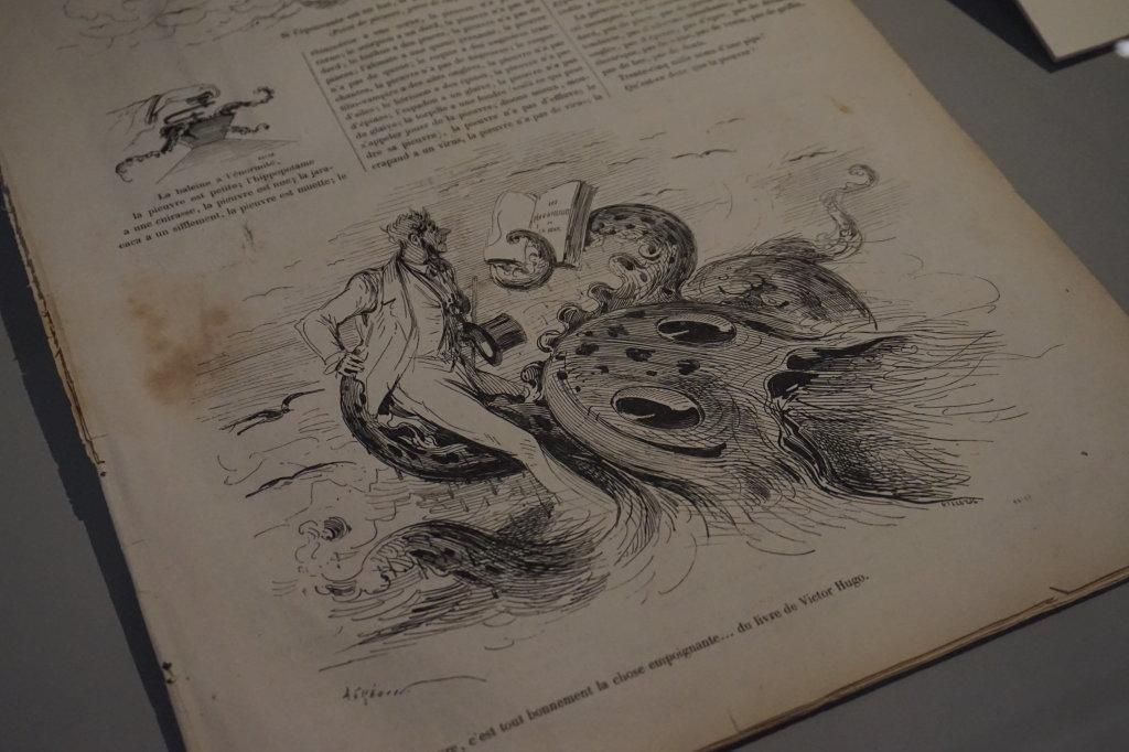 Vue de l'exposition Caricatures - Maison Victor Hugo (66)