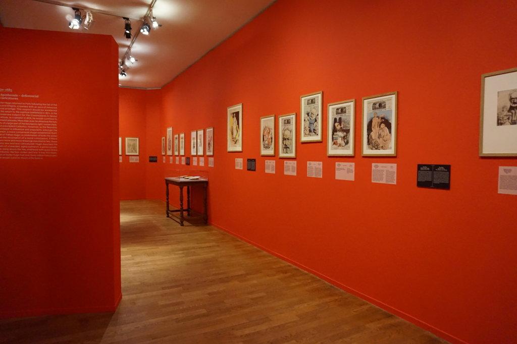 Vue de l'exposition Caricatures - Maison Victor Hugo (75)