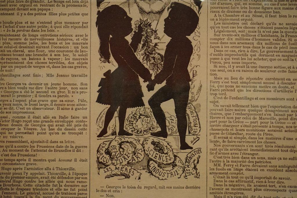 Vue de l'exposition Caricatures - Maison Victor Hugo (77)