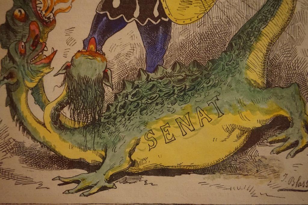 Vue de l'exposition Caricatures - Maison Victor Hugo (78)