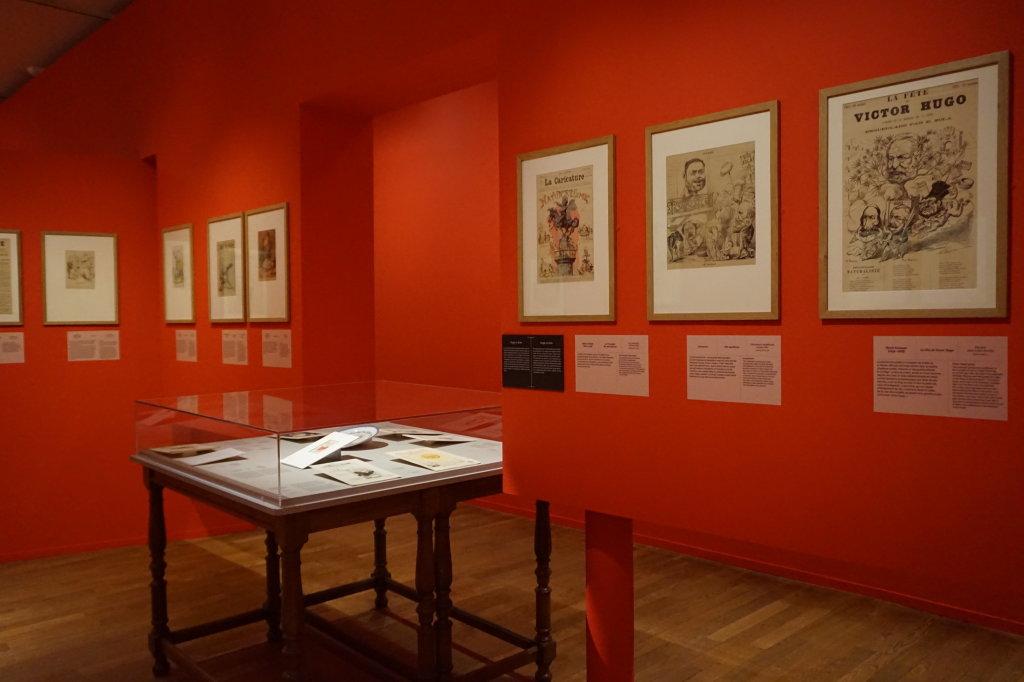Vue de l'exposition Caricatures - Maison Victor Hugo (79)