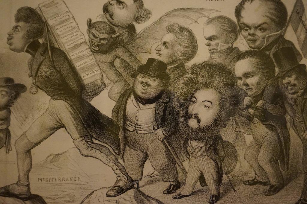Vue de l'exposition Caricatures - Maison Victor Hugo (8)