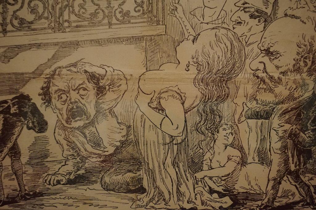 Vue de l'exposition Caricatures - Maison Victor Hugo (81)