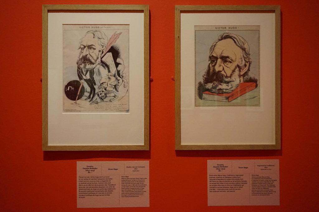 Vue de l'exposition Caricatures - Maison Victor Hugo (84)