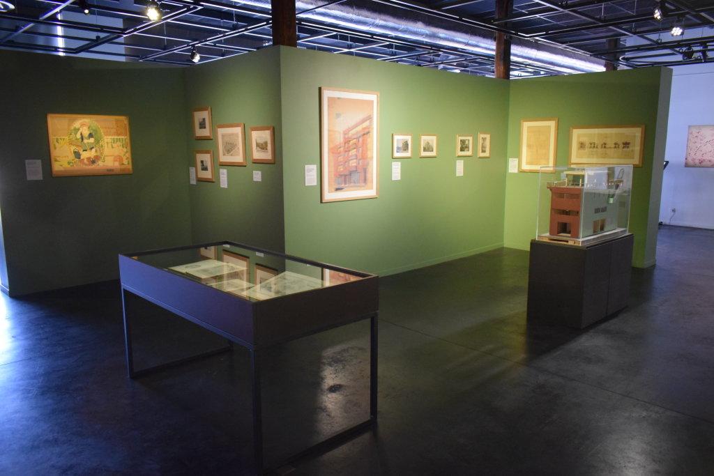 Vue de l'exposition Cités jardins, cités de demain - La Fabrique des Savoirs, Elbeuf (21)