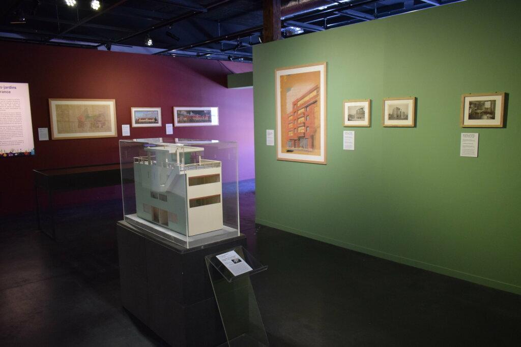 Vue de l'exposition Cités jardins, cités de demain - La Fabrique des Savoirs, Elbeuf (25)