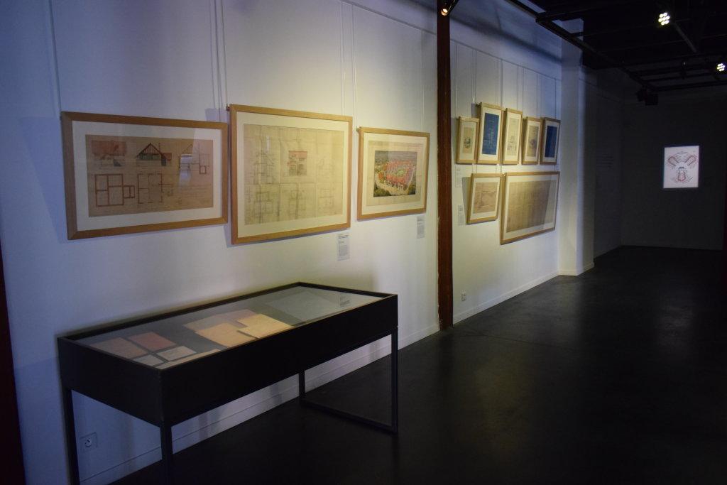 Vue de l'exposition Cités jardins, cités de demain - La Fabrique des Savoirs, Elbeuf (28)
