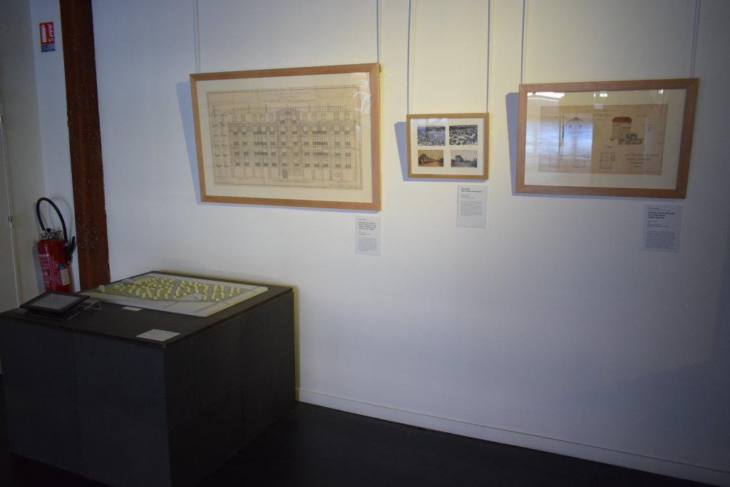 Vue de l'exposition Cités jardins, cités de demain - La Fabrique des Savoirs, Elbeuf (29)