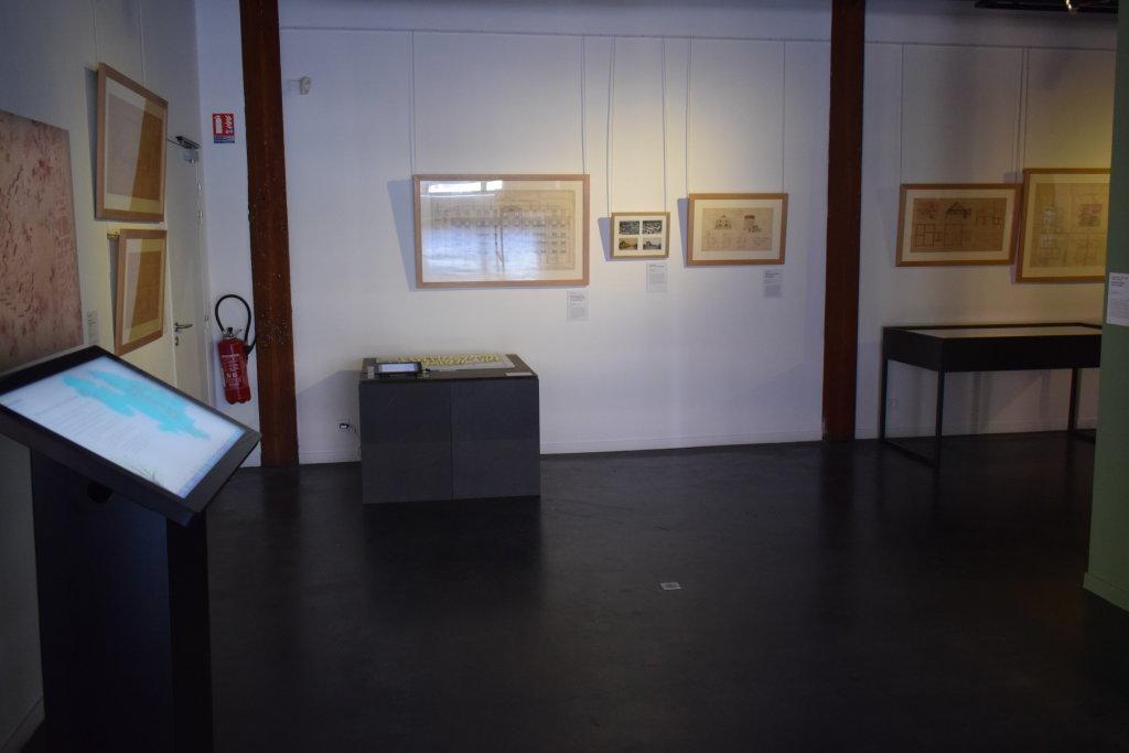 Vue de l'exposition Cités jardins, cités de demain - La Fabrique des Savoirs, Elbeuf (34)