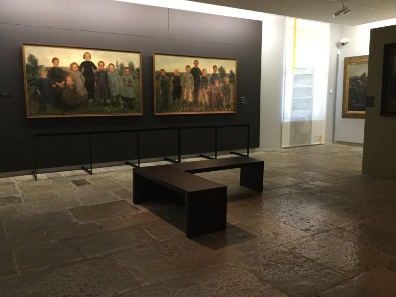 Vue de l'exposition Léon Frederic, un autre réalisme - Musée Courbet, Ornans