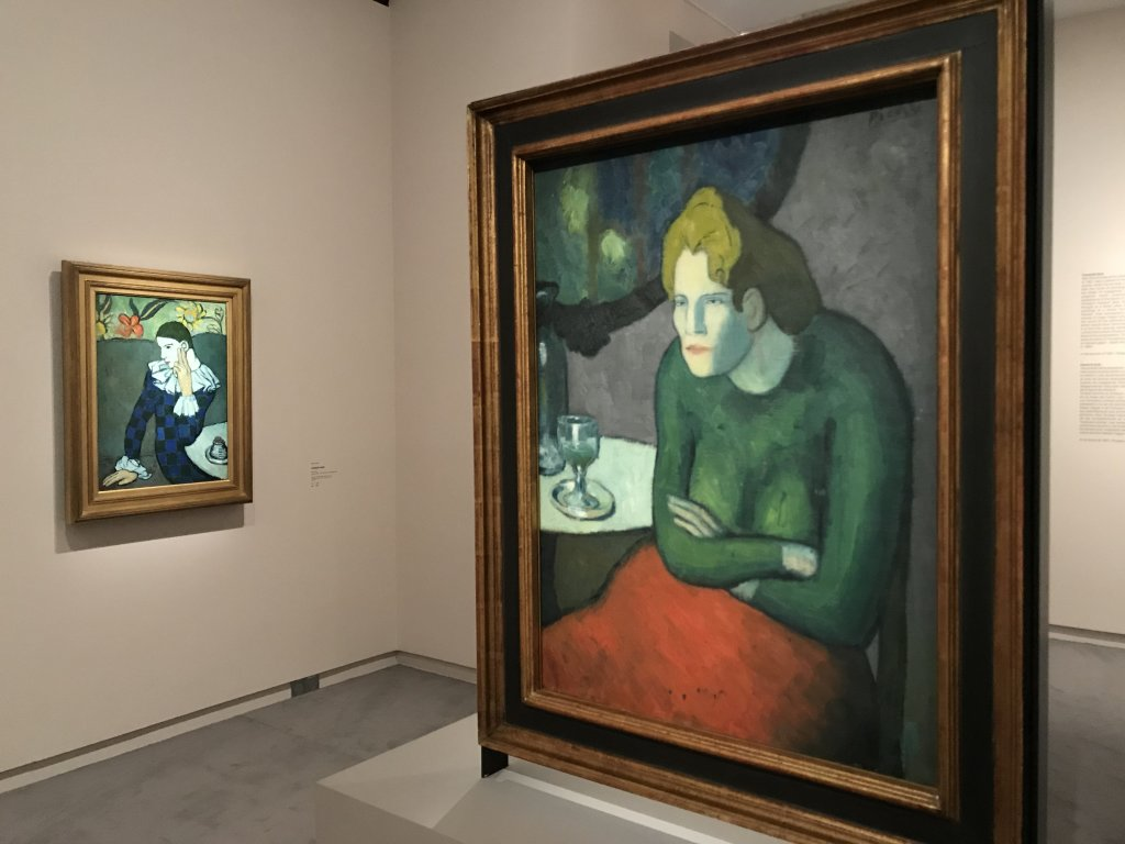 Vue de l'exposition Picasso bleu et rose - Musée d'Orsay
