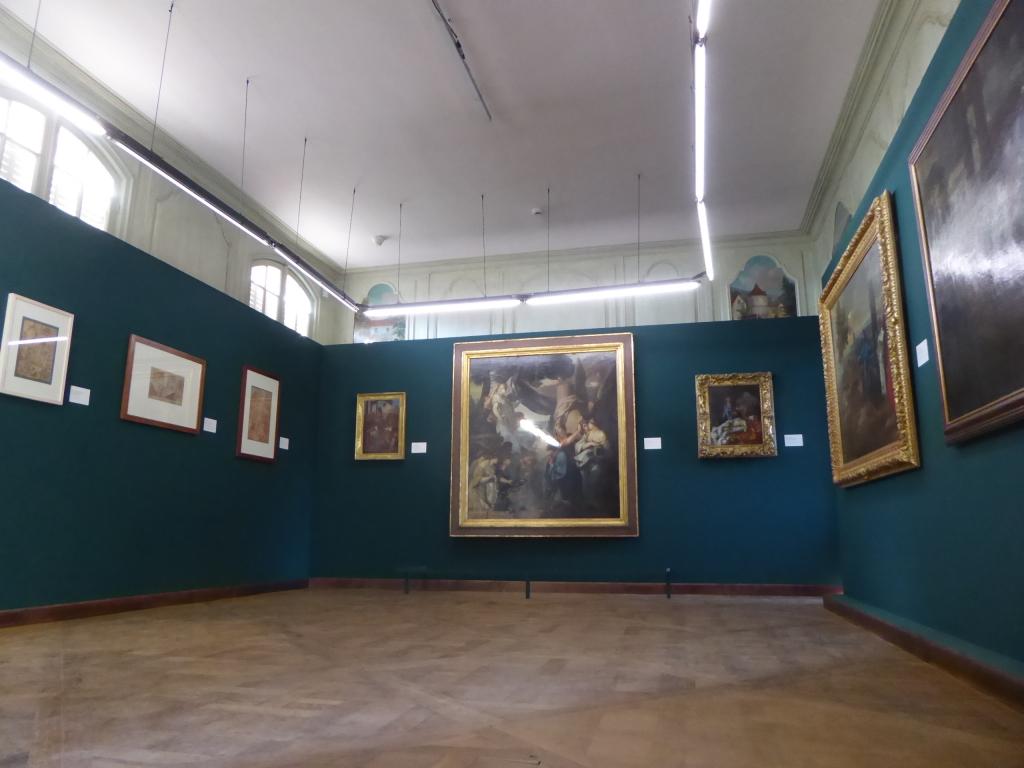 Vue de l'exposition Sébastien Bourdon, un Protestant à la Cour - Musée national de Port-Royal des Champs