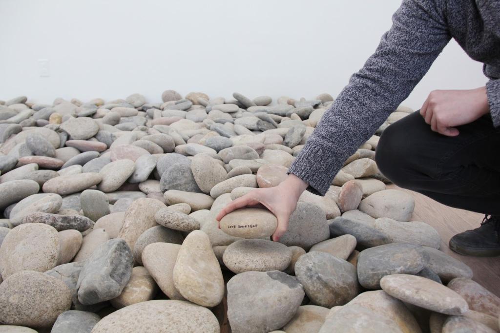 Yoko Ono, Riverbed Stone Piece, 2015