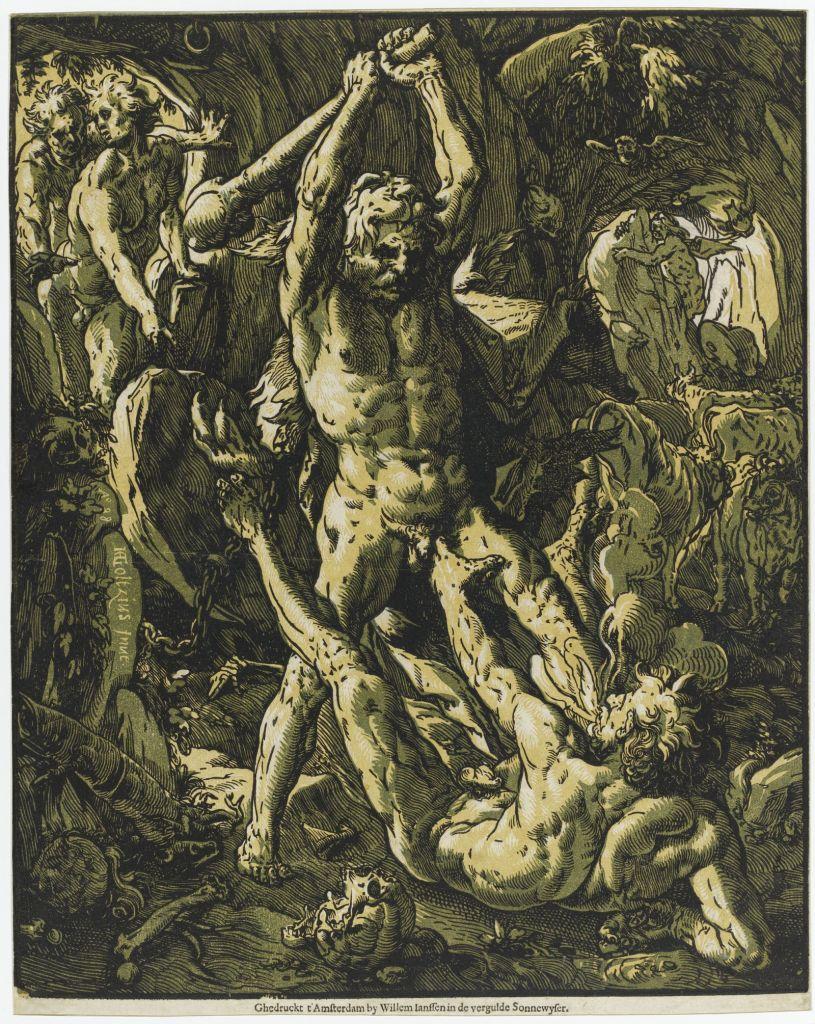 Hendrick Goltzius, Hercule tuant Cacus, 1588