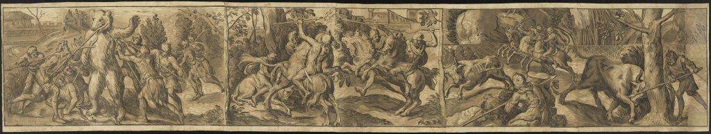 Joos Gietleughen, d'après Frans Floris, Les Chasses, 1555