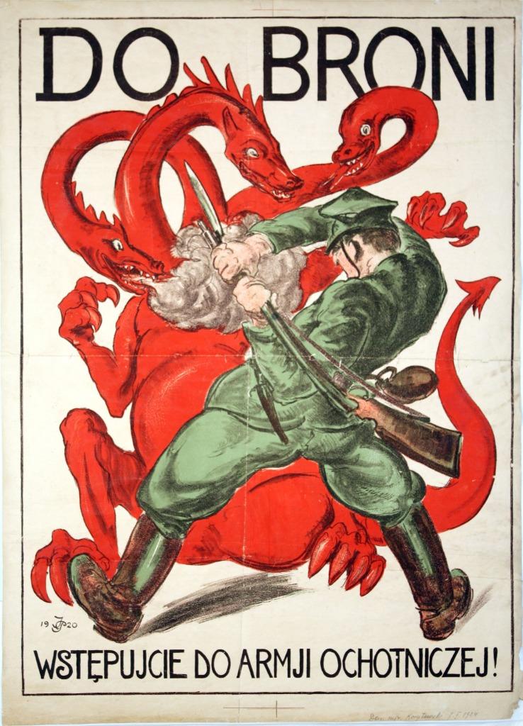 Aux Armes !, affiche de propagande polonaise, 1920