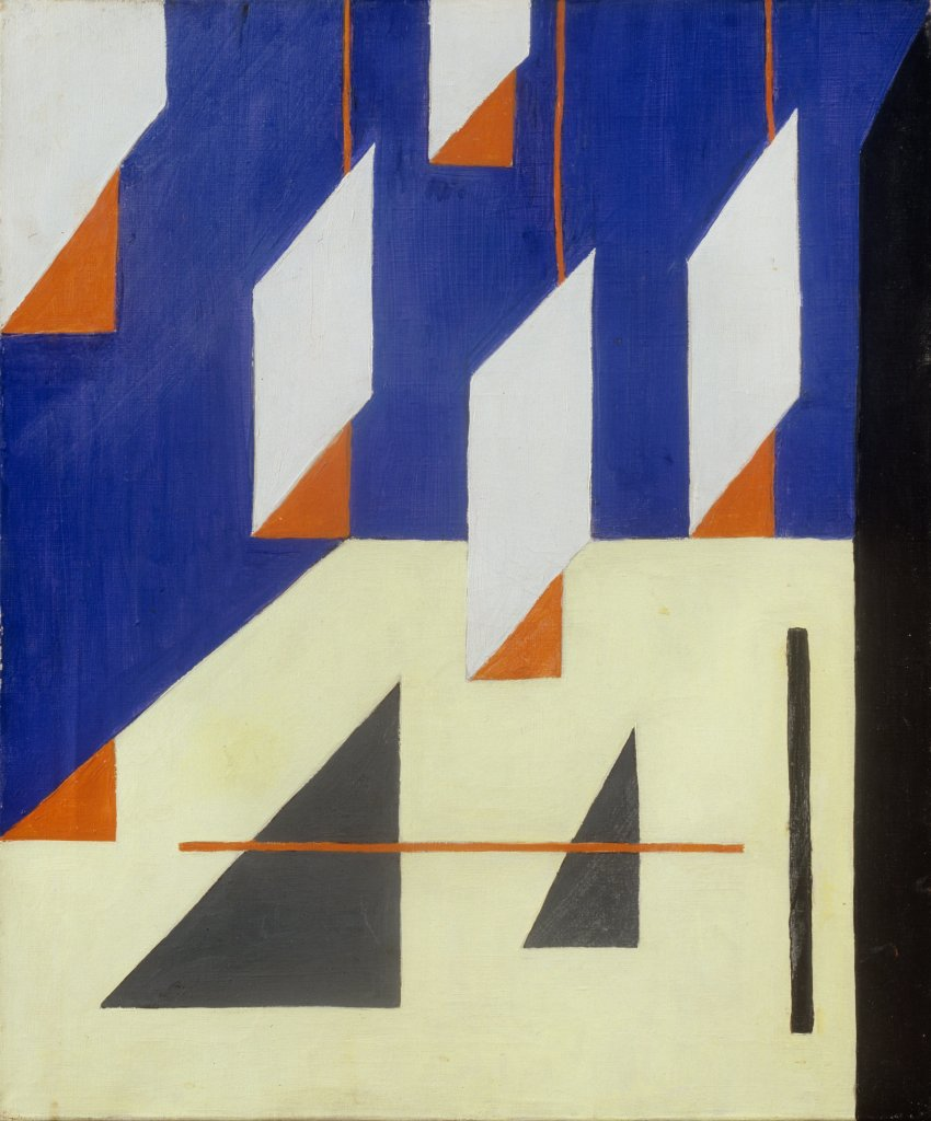 Lajos Tihanyi, Composition in Blue and Yellow, 1934