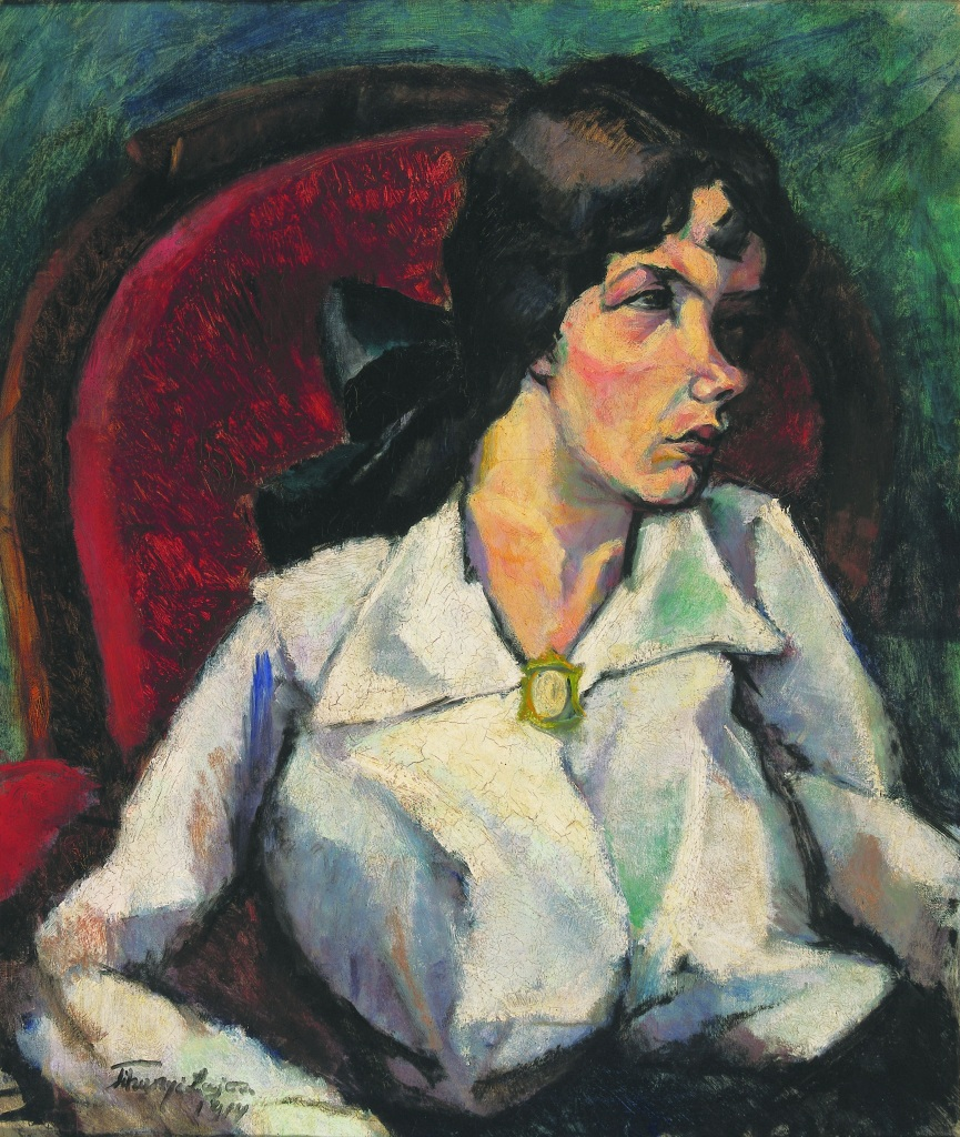 Lajos Tihanyi, Portrait of Magdolna Leopold, 1914