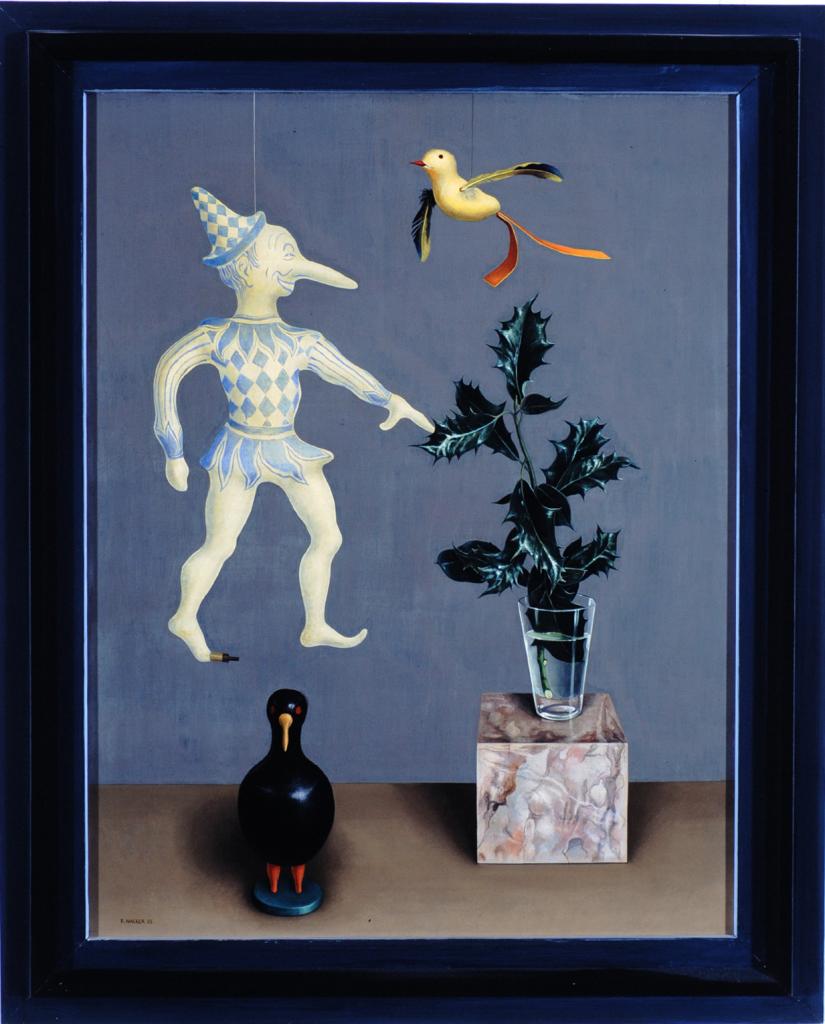 Rudolf Wacker, Still life with Holly, 1933