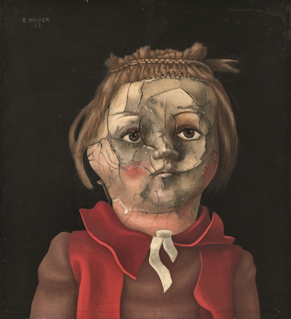 Rudolf Wacker, Cracked doll's head, 1937