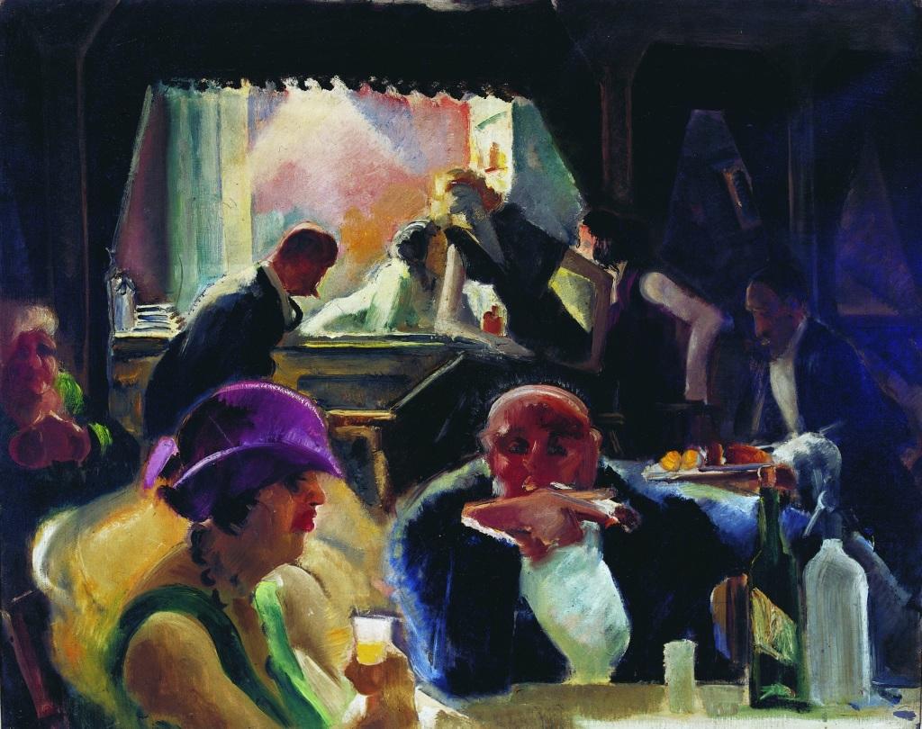 István Farkas, Coffeehouse Scene, 1922