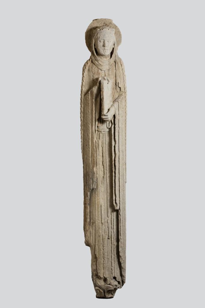 Statue-colonne: reine de l'Ancien Testament