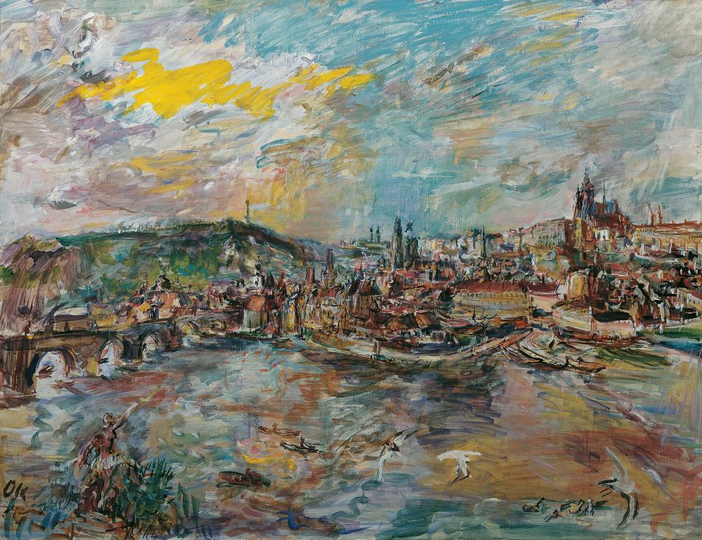 Oskar Kokoschka, Der Prager Hafen, 1936