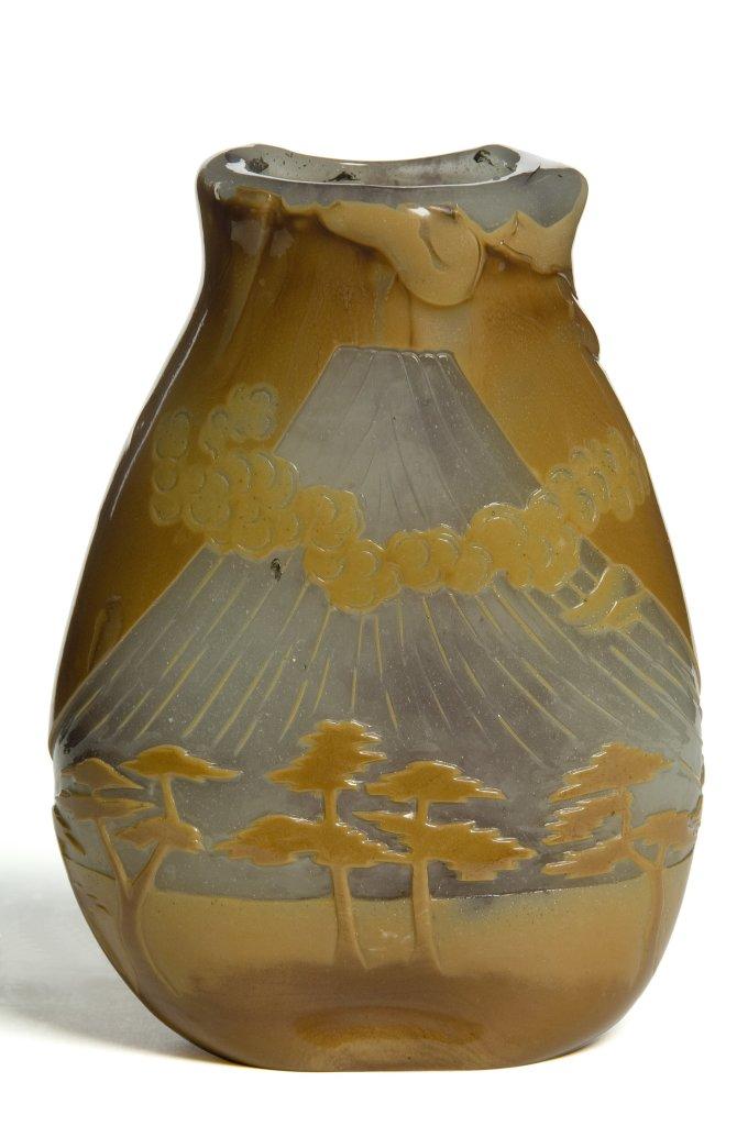 François-Eugène Rousseau, « Mont Fuji » Vase Paris, vers 1884