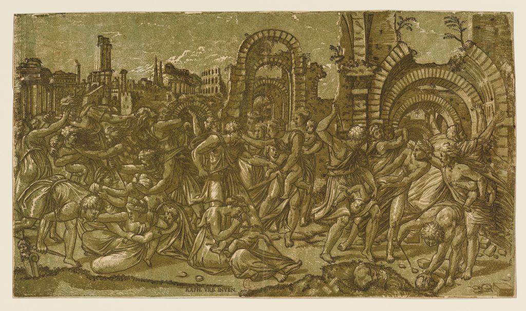 Maître ND, d'après Raphaël, Massacre des Innocents, 1544