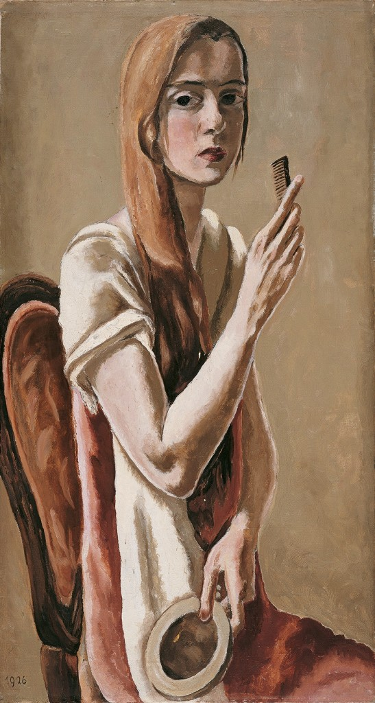 Marie-Louise von Motesiczky, Selfportrait with comb, 1926