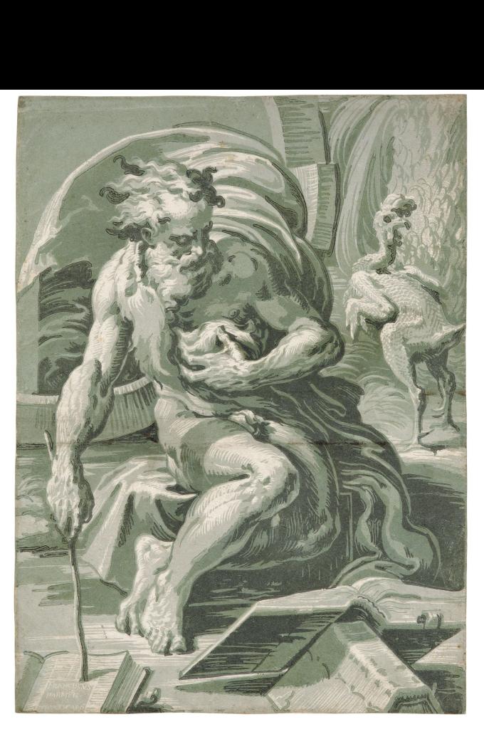 Ugo da Carpi, Diogène, 1527-1530, Gravure sur bois